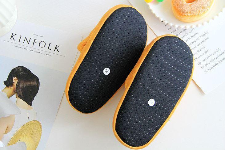 Bread slippers underside