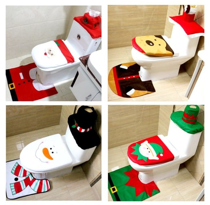 Christmas toilet cover designs