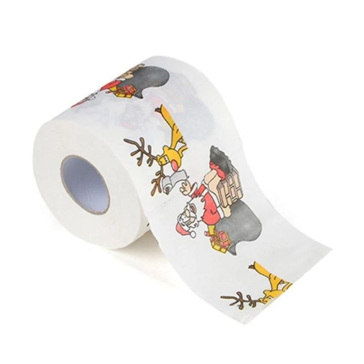 Christmas toilet paper Santa Claus