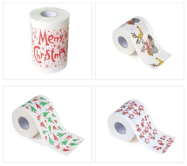 Christmas toilet paper motifs