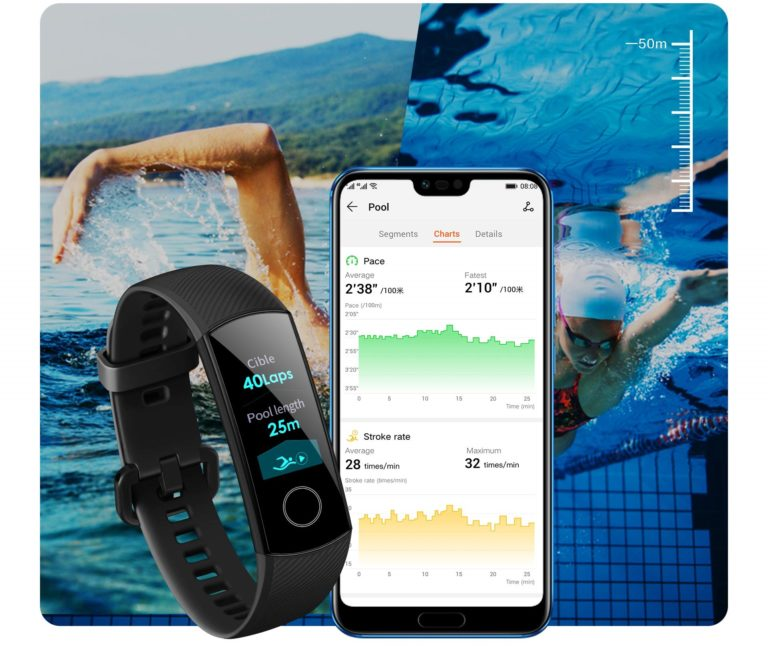 Fitness Bands You Can Swim With: Honor Band 4: With Colour Display On The Fitness Tracker