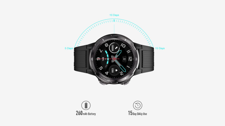 UMIDIGI Uwatch GT battery life