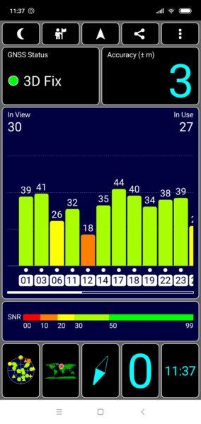 Xiaomi Mi 8 Lite GPS Test