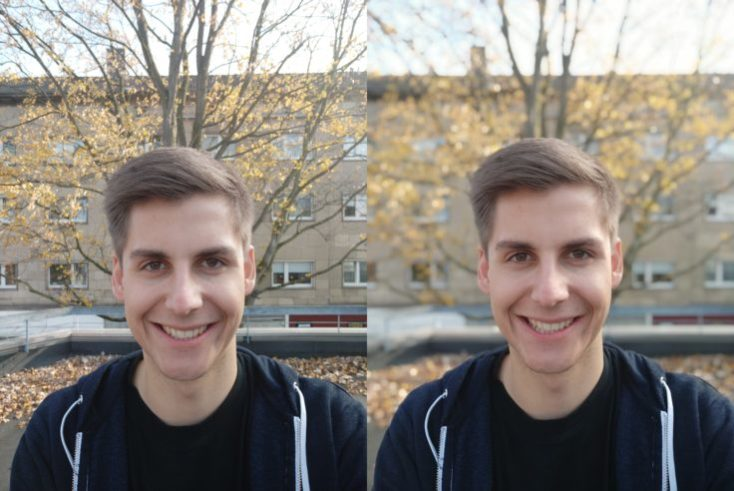 Xiaomi Mi 8 Lite test photo front camera portrait comparison 2