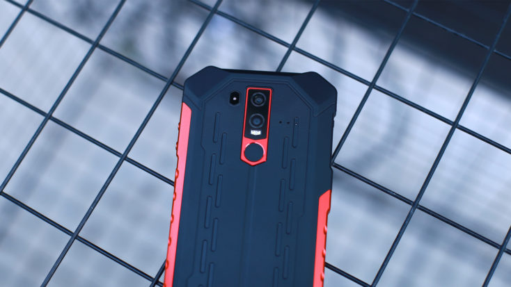 The main camera and backside of the UleFone Armor 6