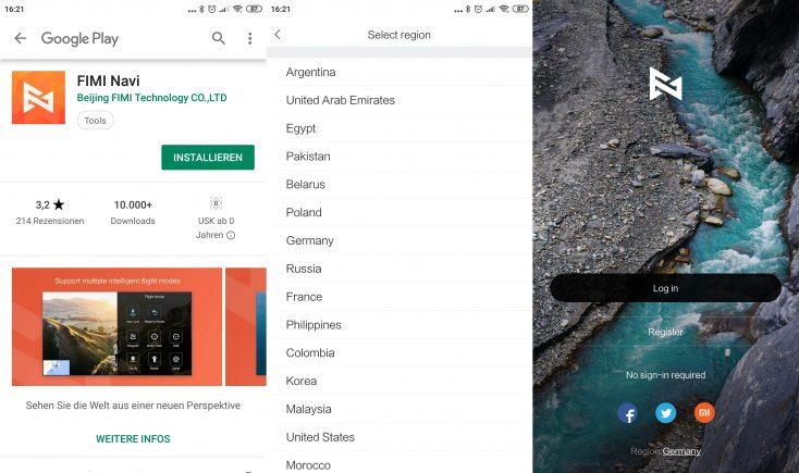 Xiaomi FIMI X8 SE Drone App Screenshots