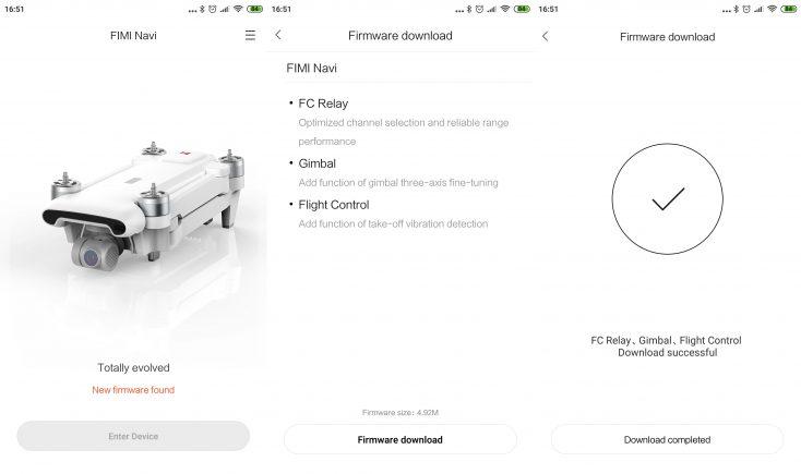 Xiaomi FIMI X8 SE Drone App-Screenshots-Firmware-Update