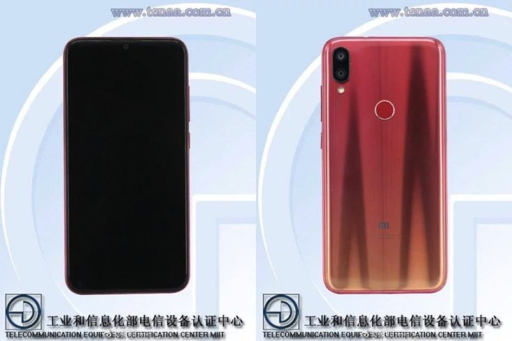 Xiaomi Play TENAA Design