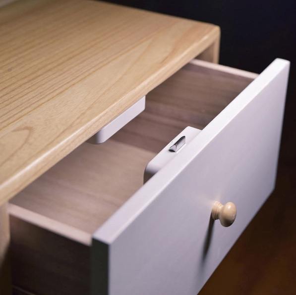 Yeelock drawer lock in drawer