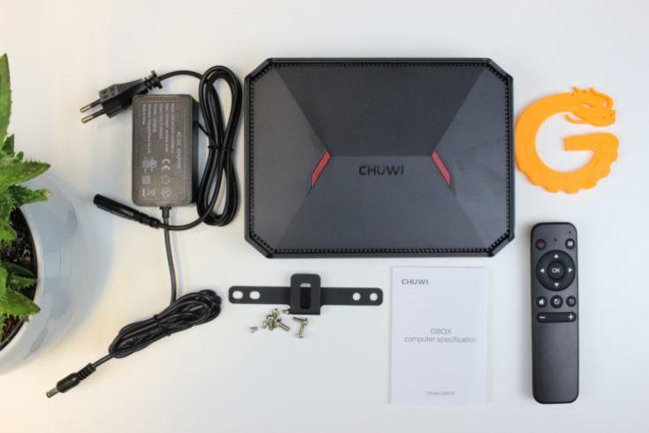 CHUWI GBox Mini PC Scope of delivery
