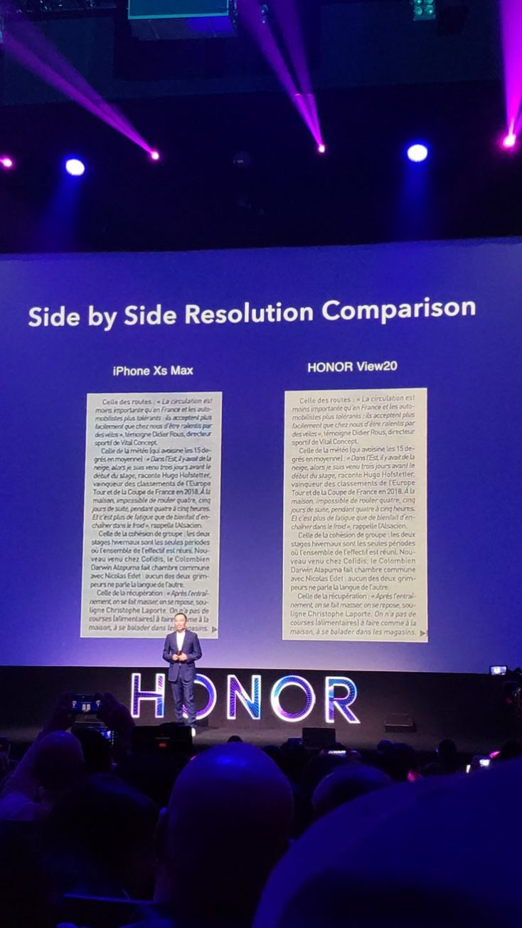 Honor View 20 iPhone comparison