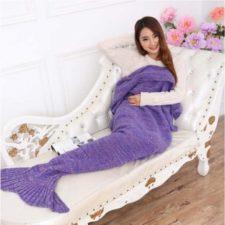 Knitted blanket Mermaid