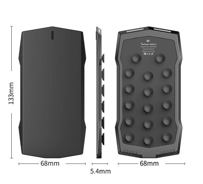 MUJA Gamepad Smartphone Dimensions