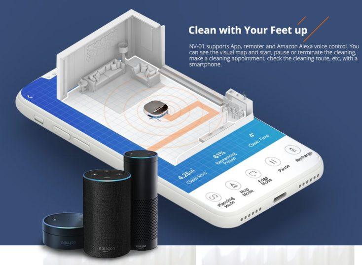 Minsu NV-01 Suction robot App and Alexa control system