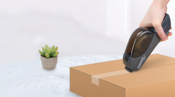 Semi-automatic tape dispenser package