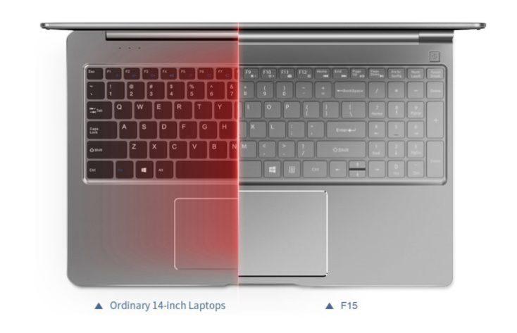 Teclast F15 TouchPad