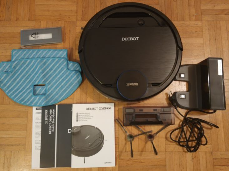 ECOVACS DEEBOT OZMO 930 vacuum robot Scope of delivery