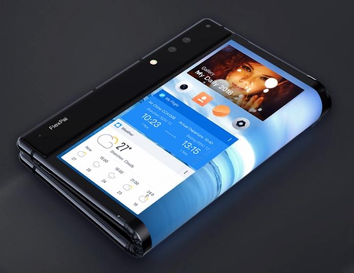 FlexPai smartphone folded