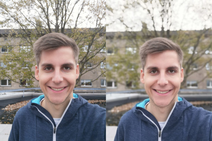 Honor Play Front Camera Portrait Comparison