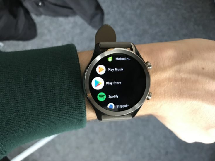 Ticwatch C2 Menu