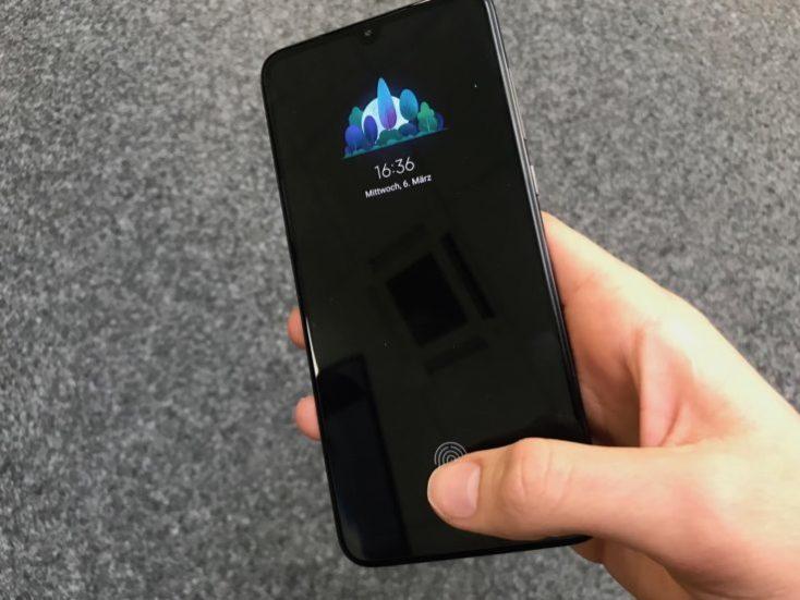 Xiaomi Mi 9 fingerprint sensor in display