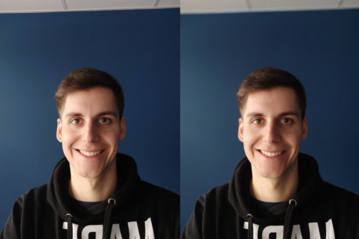 Xiaomi Mi 9 front camera test photo portrait comparison