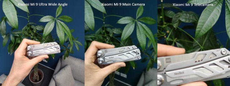 Xiaomi Mi 9 main camera Focal lengths