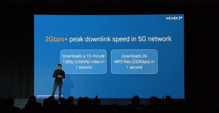 Xiaomi Mi Mix 3 5G Speed