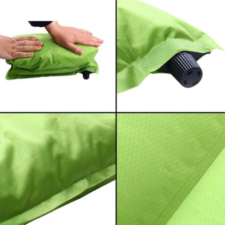 self inflating travel pillow stow away