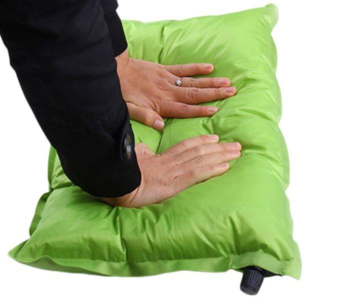 self inflating travel pillow