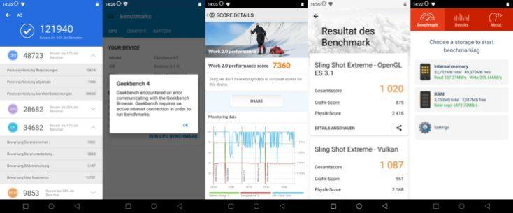 Elephone A5 Benchmarks
