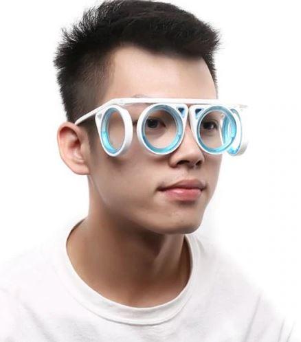 Glasses against travel sickness