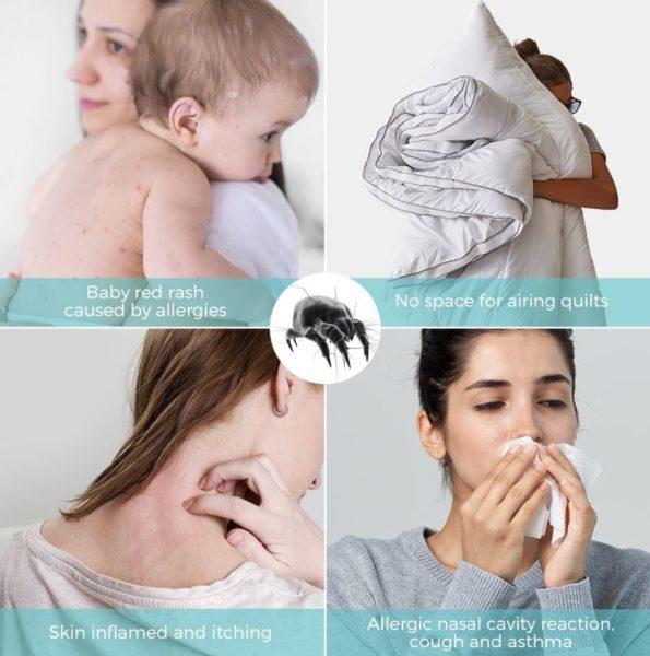 Houzetek UV-1001 Mite Hand Cleaner Mite Effect