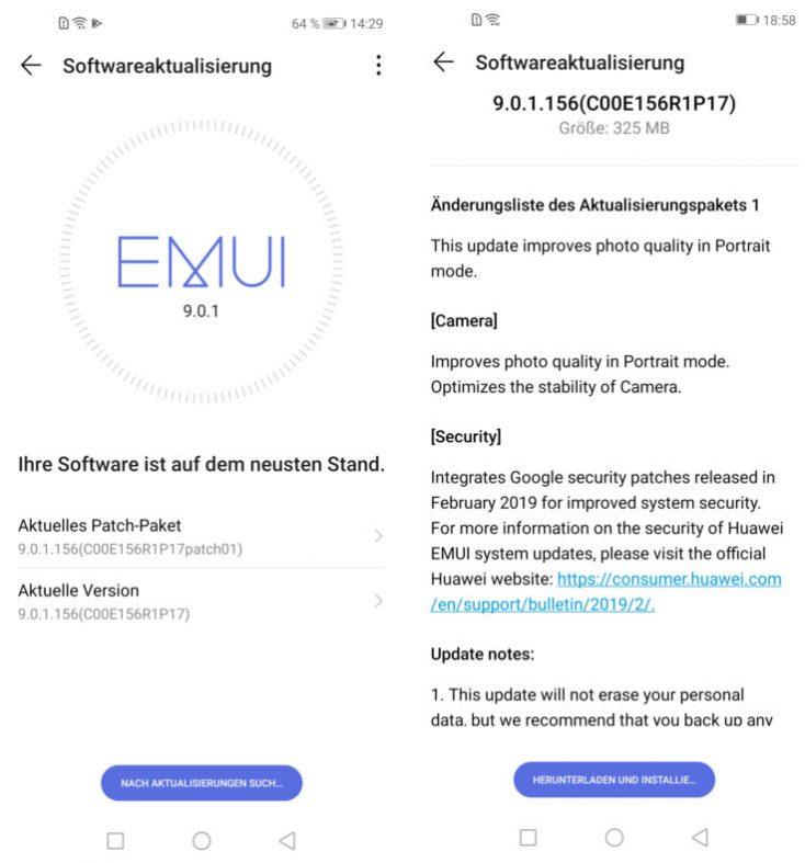 Huawei Nova 4 EMUI Operating System