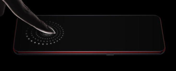 Lenovo Z5 Pro GT fingerprint sensor in display