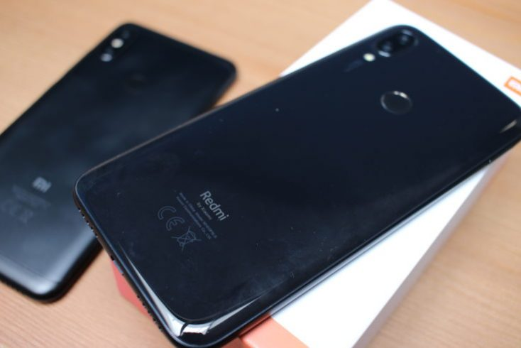 Redmi 7 reverse side black CE marking