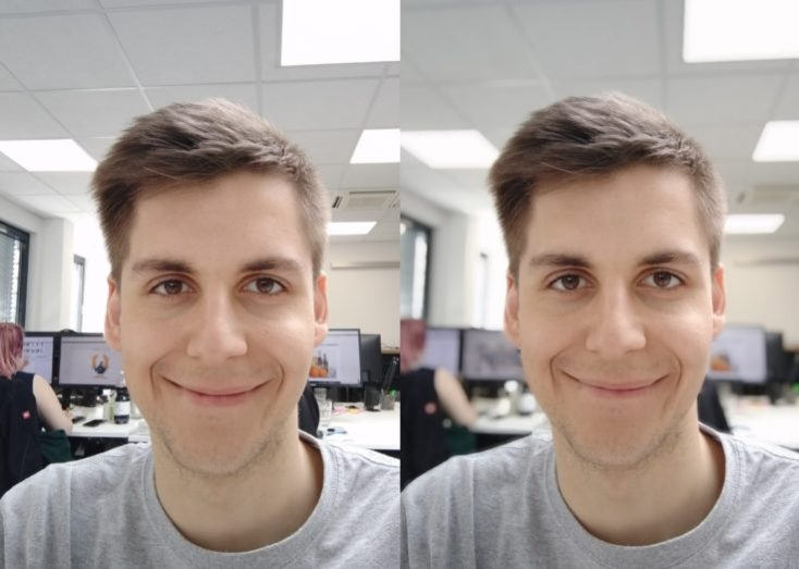 Redmi 7 test photo front camera portrait comparison