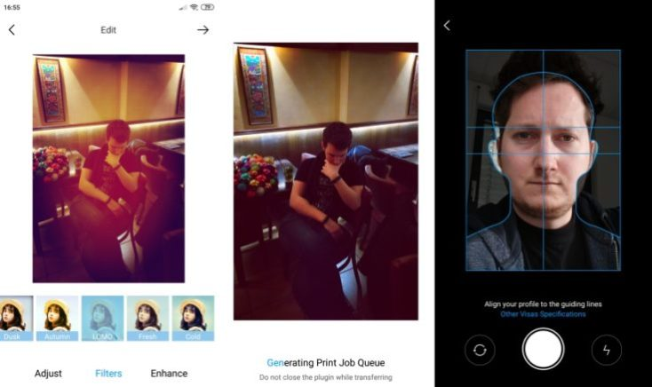 Xiaomi Photo Printer Mi Home App Editor Screenshots