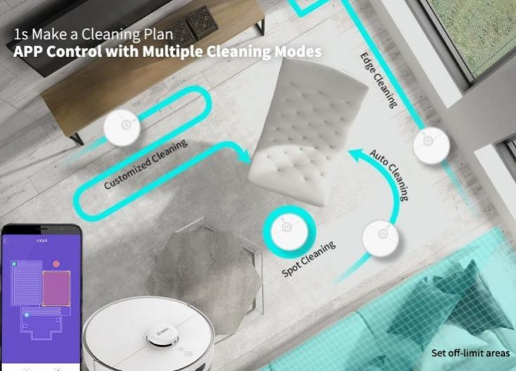 360 S5 Vacuum Robot Cleaning Create Mapping Plan
