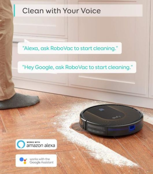 Anker eufy RoboVac 30C Vacuum robot Advertising Alexa control system