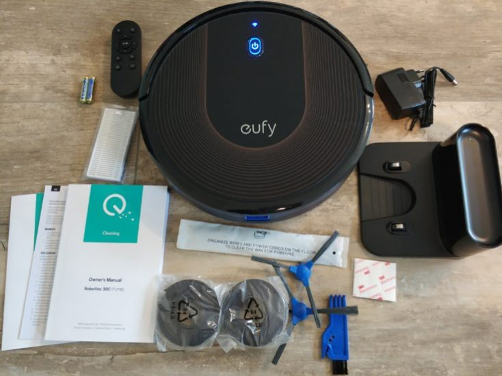 Anker eufy RoboVac 30C Vacuum robot Scope of delivery
