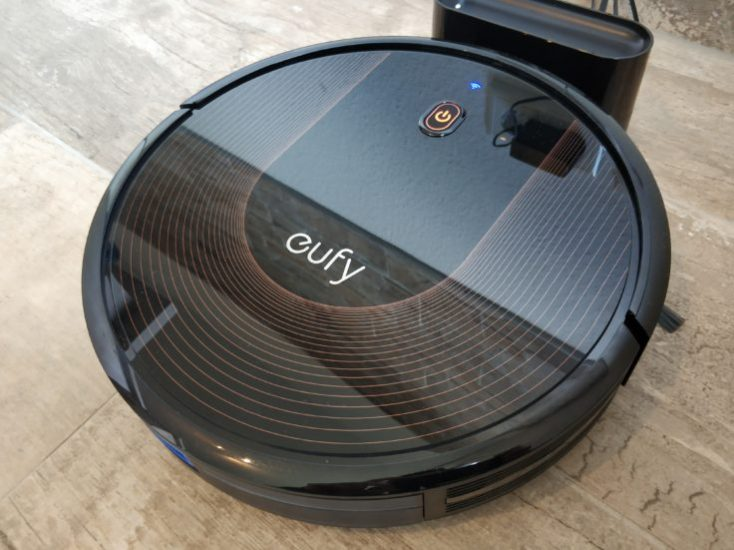 Anker eufy RoboVac 30C vacuum robot at charging station