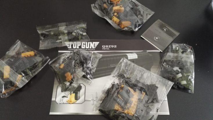 Building blocks pistol packaging