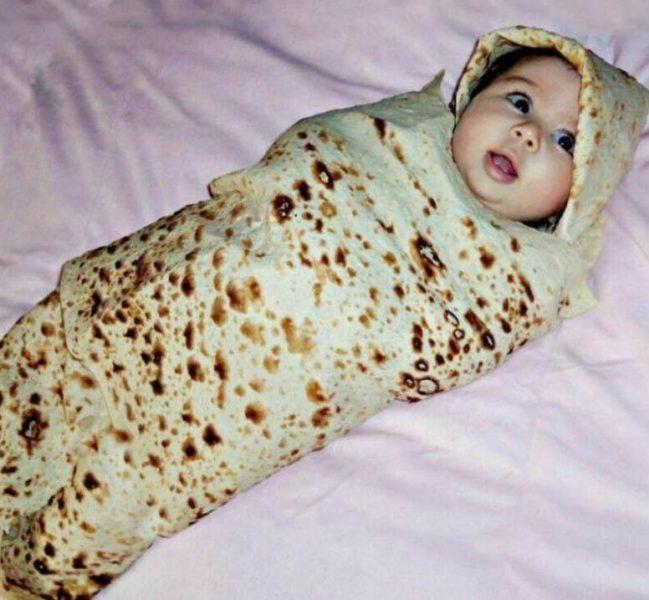 Burrito blanket baby