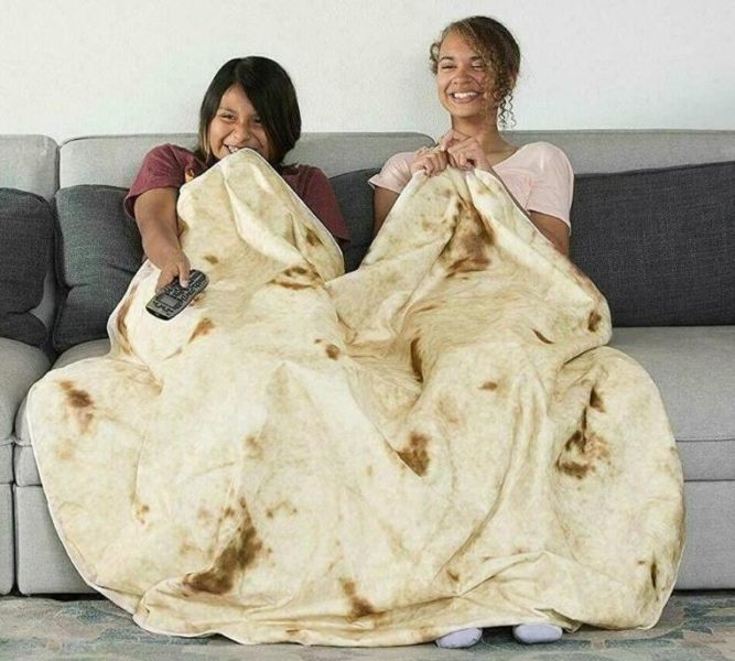 Burrito blanket sofa