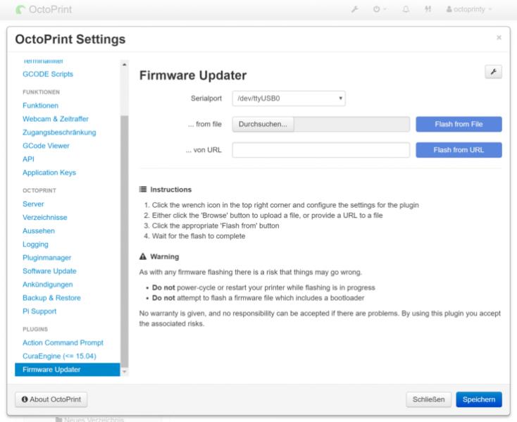 CR-10S Pro firmware-update octoprint