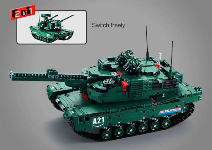 CaDA Battle Tank Building Blocks 2 in 1