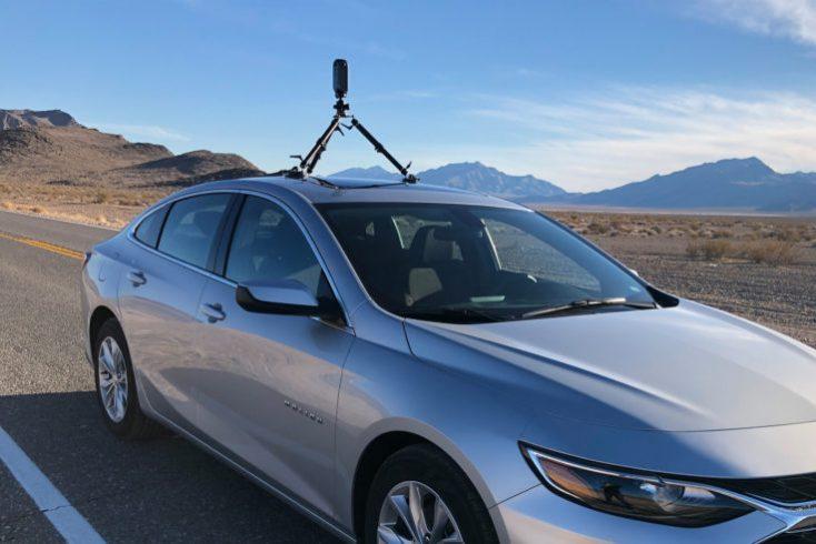 Pilot Era 8K 360 degree VR camera on car