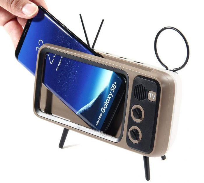 Retro Speaker and mobile phone holder