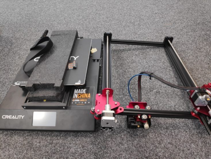 The individual parts of the CR-10S Pro at a glance